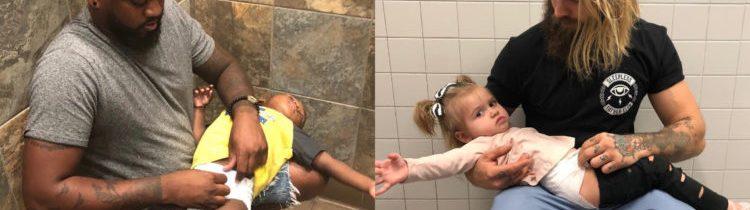 Pai cria campanha para pedir mesas de troca de fraldas em banheiros masculinos