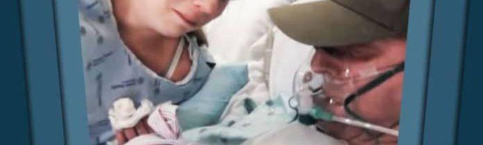 Mulher induz parto 15 dias antes, para que seu marido com câncer terminal pudesse conhecer sua filha