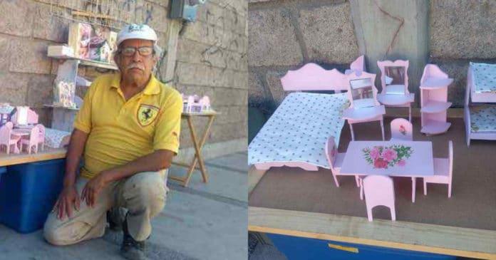 Vovô pede ajuda na Internet para vender seus lindos artesanatos