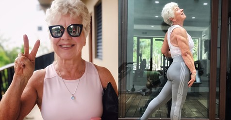 Essa mulher de 73 anos mostra que nunca é tarde para alcançar uma figura atlética e definida