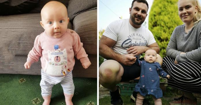 Esta bebê surpreendeu seus pais ficando sozinha em pé com apenas 3 meses de idade