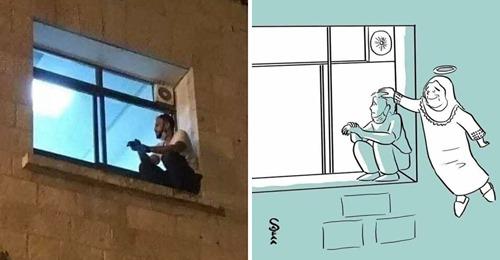 Filho escalava pela janela do hospital para ver sua mãe infectada com Covid, agora ela descansa