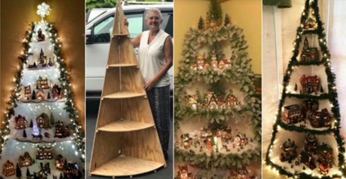 Não tem árvore de natal? Aprenda uma maneira fácil de fazê-la com madeira