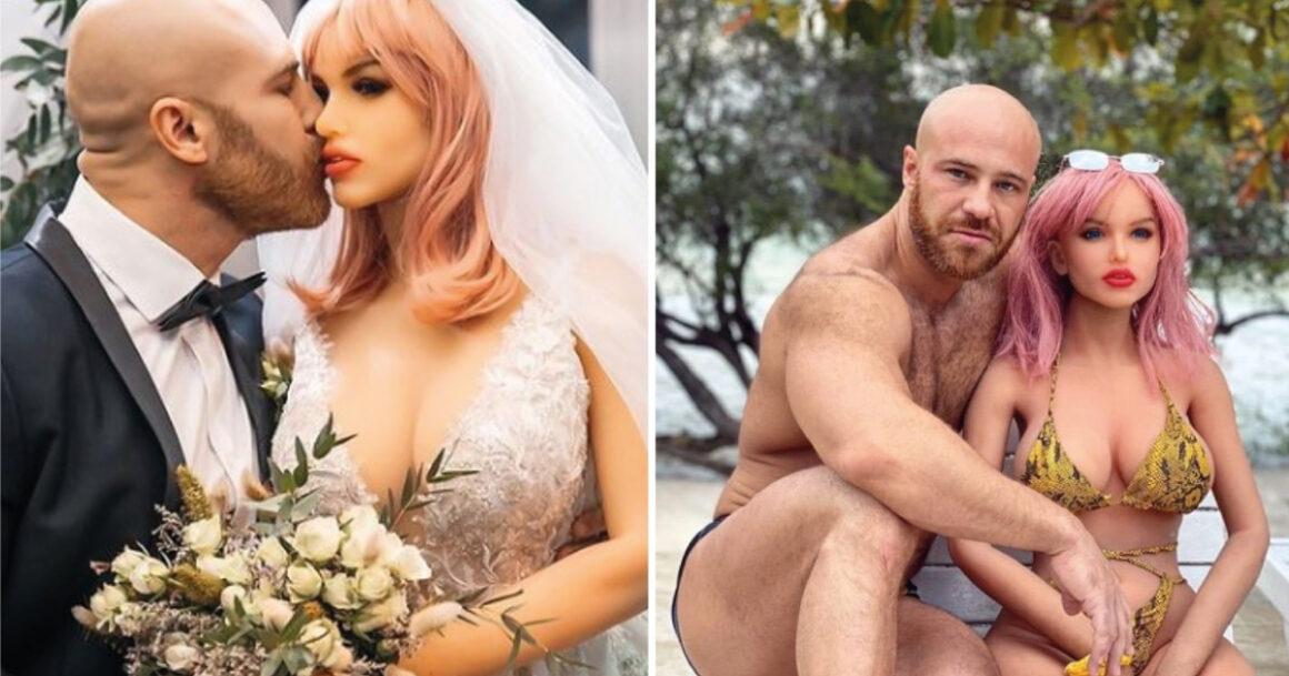 Após 18 meses de relacionamento, homem se casa com sua boneca para constituir uma família