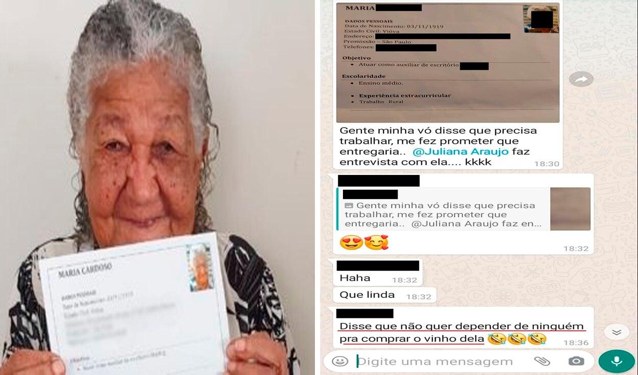 Mulher de 101 anos entrega seu currículo na esperança de conseguir um emprego