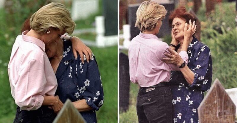 O dia em que a princesa Diana consolou uma mãe desconhecida que chorava a morte de seu filho
