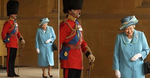 Foto da rainha rindo com o príncipe Philip em seu uniforme cerimonial se torna viral após sua morte
