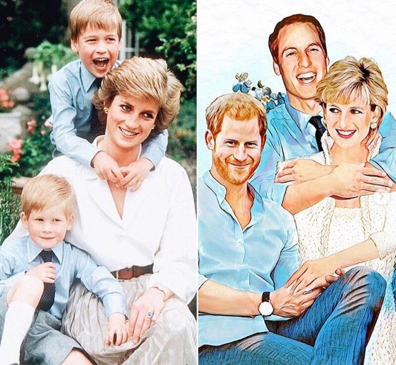 Artista criativa imagina vida para a família real se Diana ainda estivesse viva