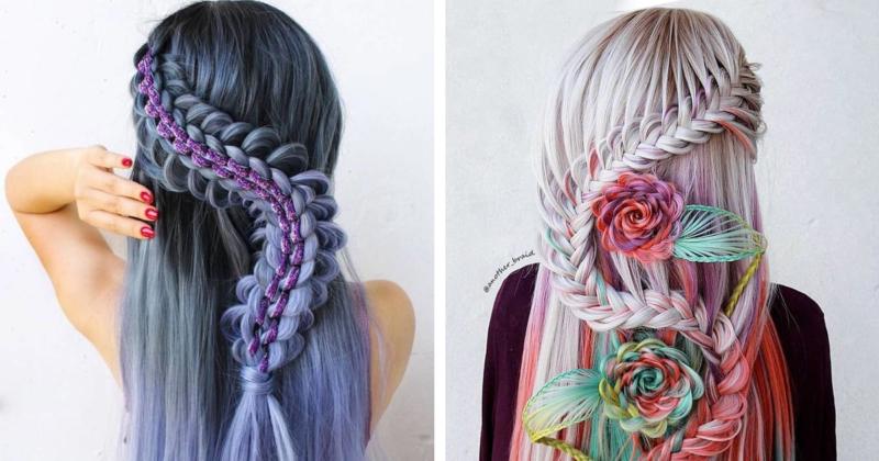 Artista cria penteados complexos que parecem pertencer a um filme de fantasia