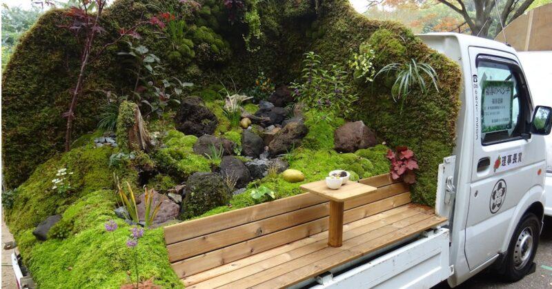 Mini caminhões no Japão estão sendo transformados em jardins minúsculos e encantadores