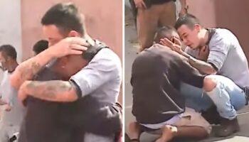 Pai conforta homem que acidentalmente atropelou sua filha, a culpa o invadiu