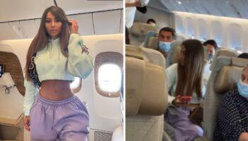 Modelo é flagrada fingindo estar viajando na primeira classe: ela tirou a foto e voltou para a classe econômica