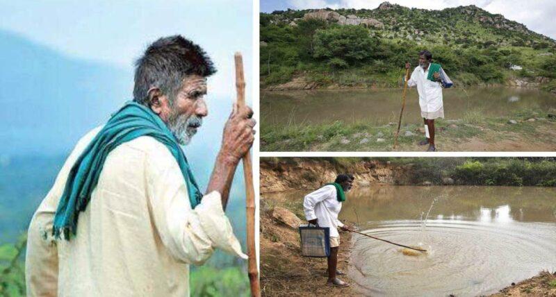 Senhor constrói 16 poços de água durante 40 anos para que os animais não sintam as secas