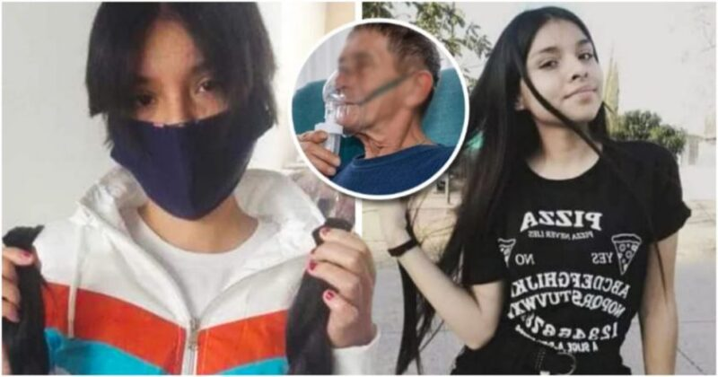 Menina de 16 anos vende os cabelos para comprar um tanque de oxigênio para o avô