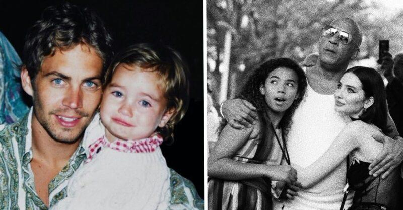 """""""É minha família"""": Filha de Paul Walker compartilha uma foto com Vin Diesel, ele era um grande amigo de seu pai"""
