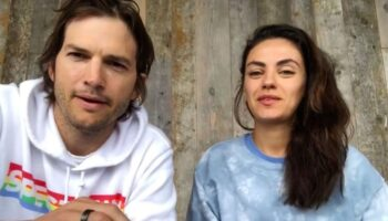 """Ashton Kutcher e Mila Kunis não banham seus filhos com frequência: """"Se você ver a sujeira neles, limpe-os"""""""