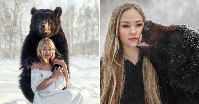 Mulher russa resgata um urso de um zoológico, e agora eles são melhores amigos