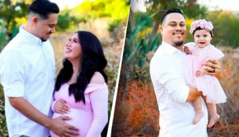 Homem homenageia a memória de sua esposa com uma sessão de fotos com sua filha