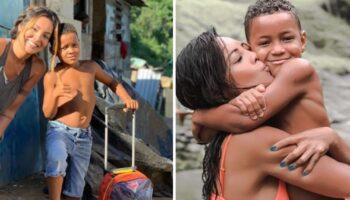 """Carol Nakamura adota menino que vivia em um lixão: """"Ele me ensinou a ser mais grata"""""""