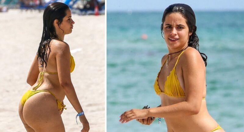 Camila Cabello posa com um pequeno biquíni e dá um show de amor próprio