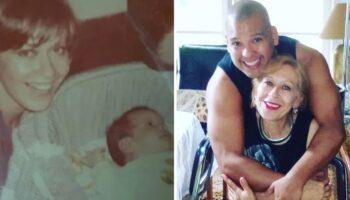 Mulher adotou um bebê que foi abandonado em frente a sua casa há 44 anos, ela o acolheu como um filho