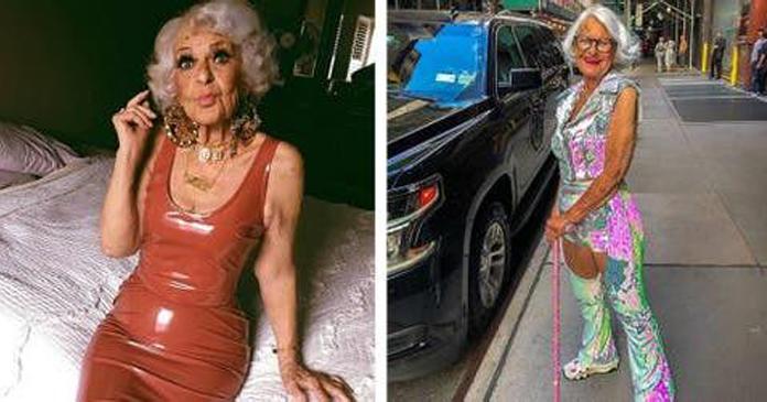Vovó de 93 anos se veste como uma adolescente e diz que é muito rebelde